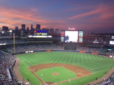 Another amazing sunset over Turner Field.