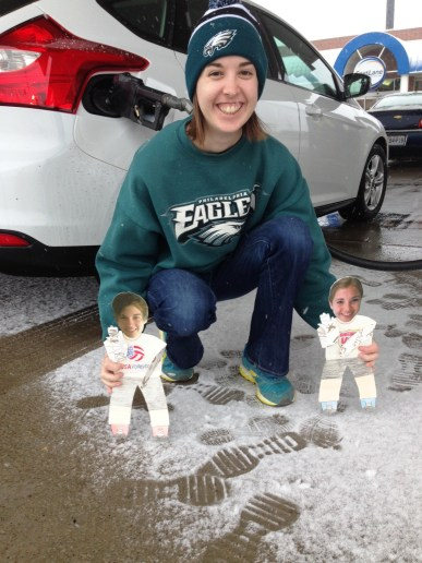 I don't think Kansas was ready for the Bird Gang -- bleeding green with Flat Meghan and Flat Jeremy.