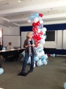 Our epic #TeamUSA balloon tower.