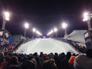 Dream come true -- standing at the base of the XGames halfpipe.