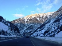 The drive through the Rockies is unreal.