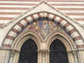 Mosaic outside St. Paul's