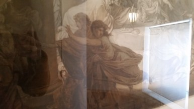 lots of glare- but this piece, submitted to a contest held by the Accademia di San Luca, was actually done in ink!