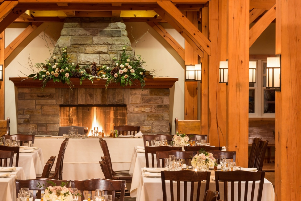Temple's timberframe wedding venue and dining hall