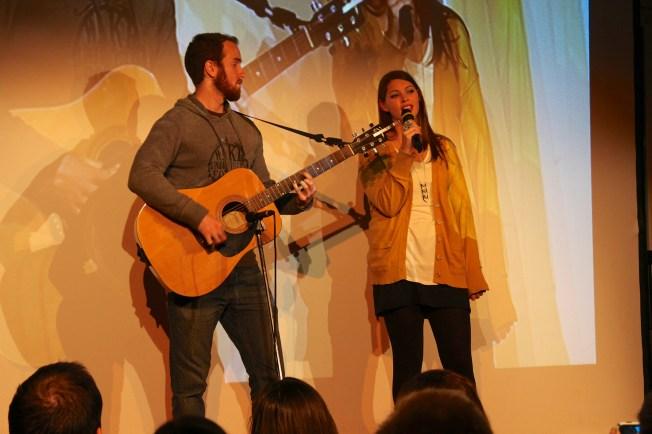 """Stephanie singing """"Bittersweet Pain"""""""