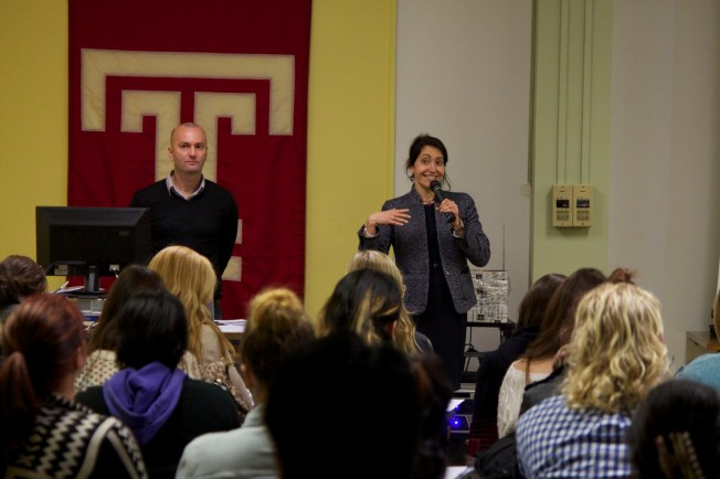 The new Temple Rome Dean starts her first orientation!
