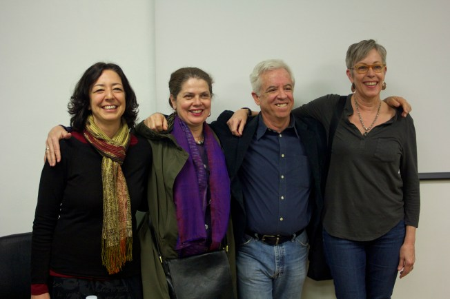 Visiting artist-Photgrapher Henry Horenstein with Temple Faculty.