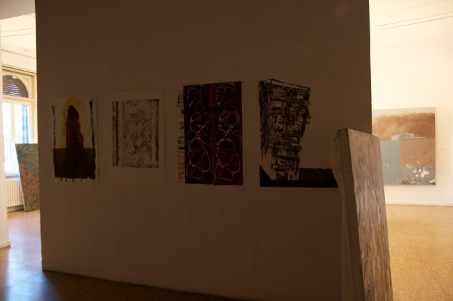 What was left of the end of the semester student show in the Temple Rome gallery.