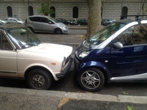 This week's Bronze medalist parked the wrong way on a one-way street