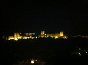La Alhambra at night!