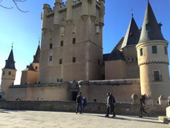 El Alcazar - the former castle (now museum) where Isabel & Ferdinand once lived.