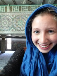 Don't forget a headscarf at the mosque!