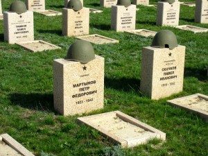 Graves of soldiers who died during the Battle of Stalingrad