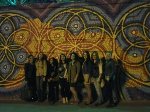 The girls of Moscow with girls from Saratov State University