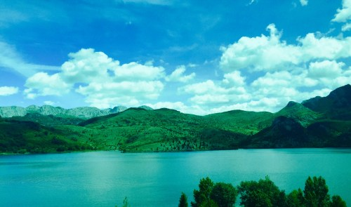The Mountains of of Asturias, as seen on the bus-ride from Madrid to Oviedo