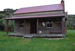 Whariwharangi Hut, our fourth and final hut on the track. (Pronounced