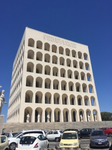 """The """"new Colosseum"""" in the EUR district."""