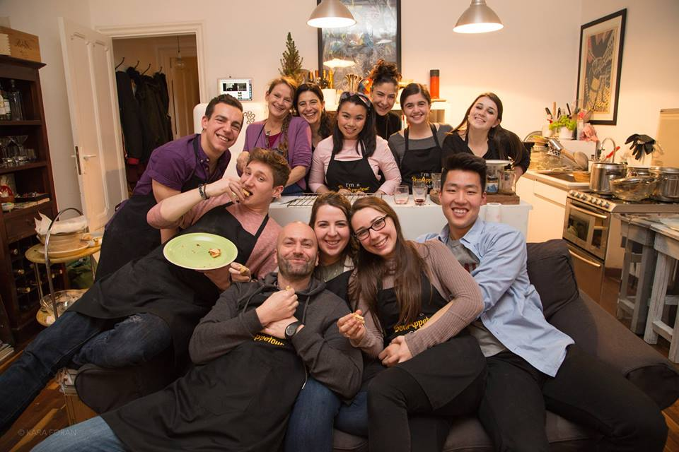 Group of students after cooking