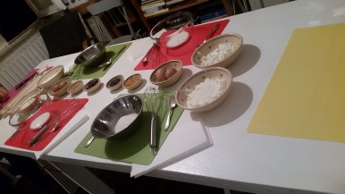 our baking set-up
