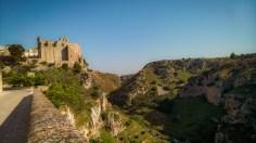 the ravine west of Matera, Basilicata