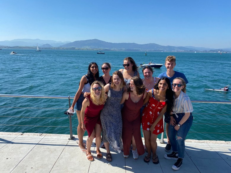 Some of the Temple students, our friend Elena and I in Santander