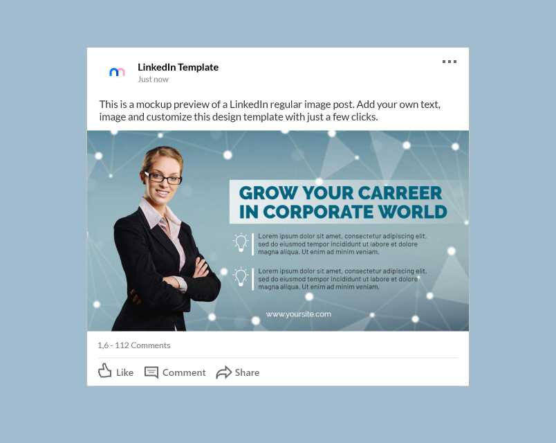 Find the right customers for your products and services. Business Career Linkedin Post Template Templiit