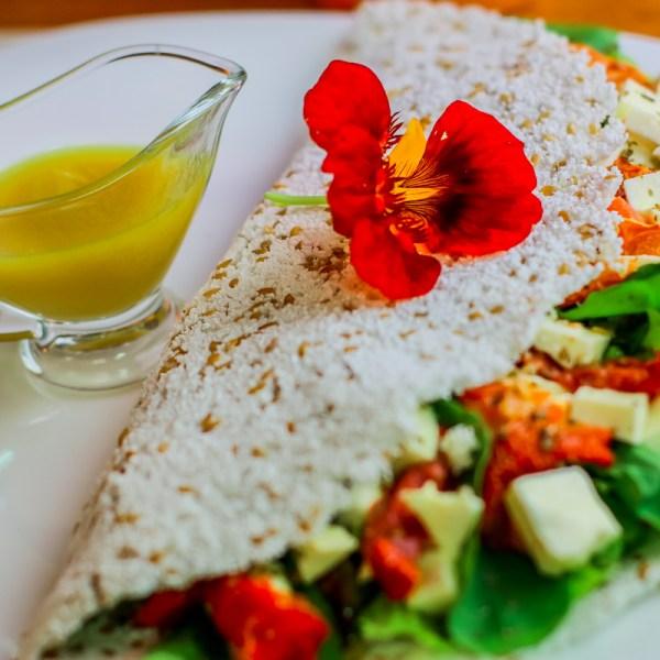 Tapioca com Queijo Fresco (Ovo-Lacto-Vegetariana)