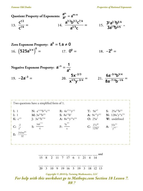 small resolution of Printables. Multiplying And Dividing Exponents Worksheet. Tempojs Thousands  of Printable Activities