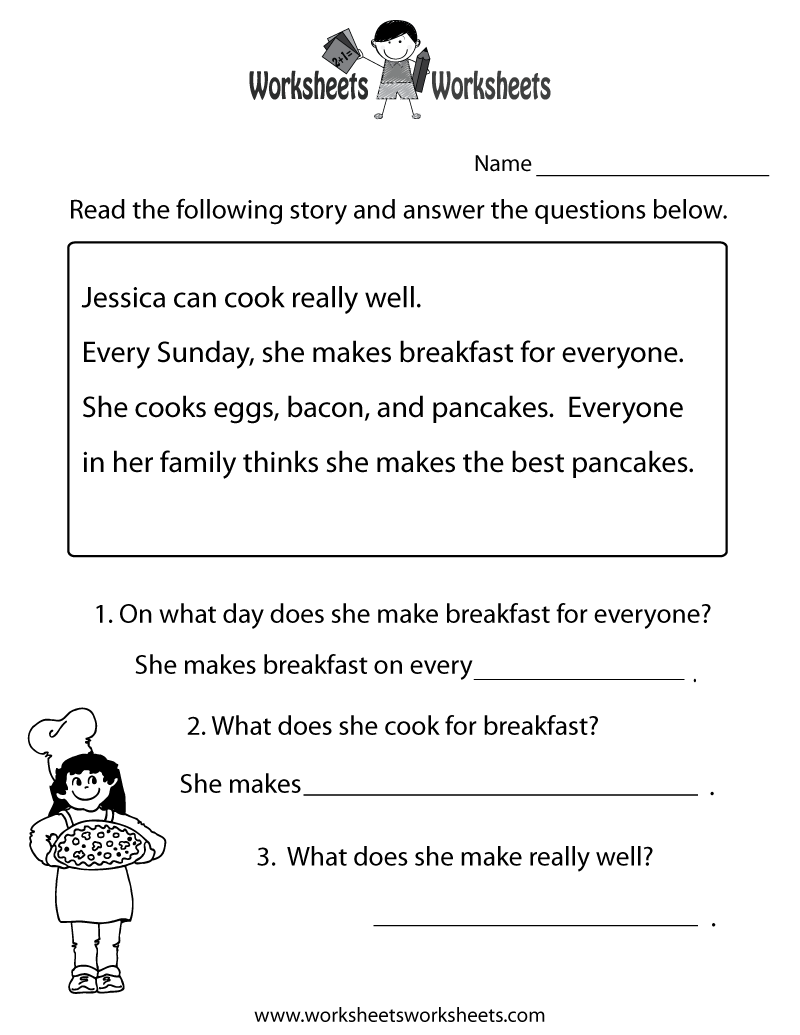 medium resolution of Printables. Reading Comprehension Grade 1. Tempojs Thousands of Printable  Activities