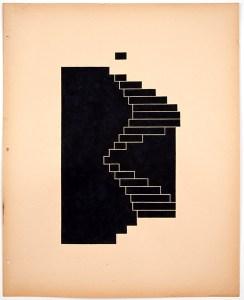 Hass_Kurfürstendamm, 177 stairs (Michael Blumenthal)_2012_guache and ink on paper_21x25in