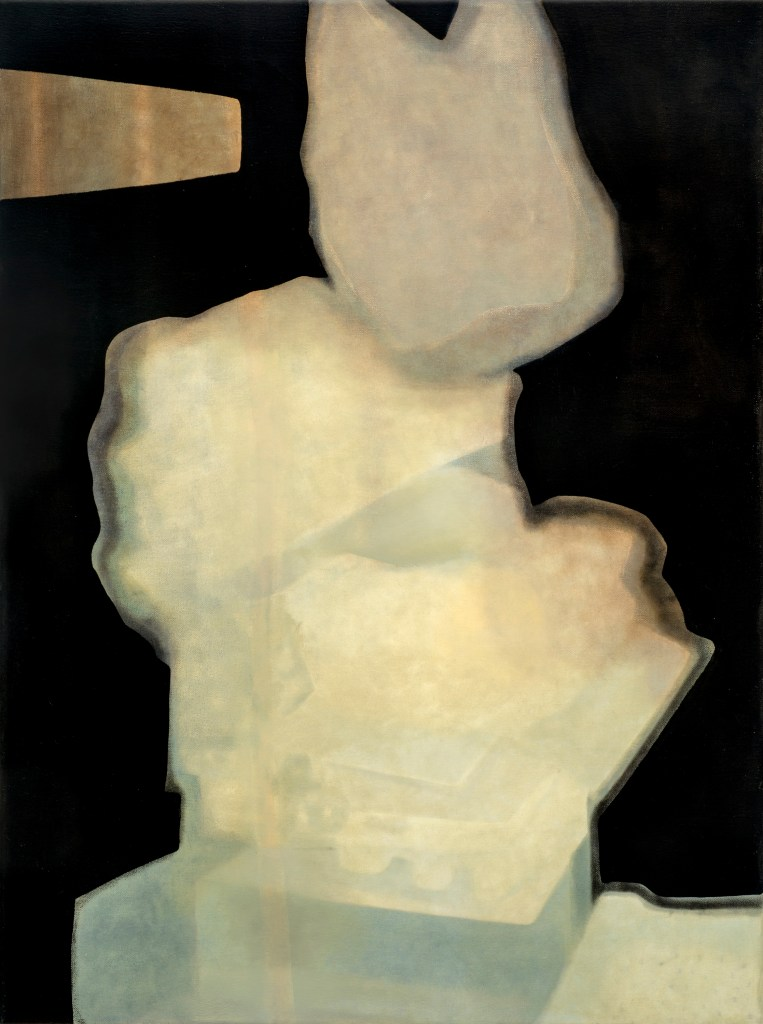 Marjorie Schwarz, Untitled (Stack2014), Water soluble oil on canvas, 18 x 24 in