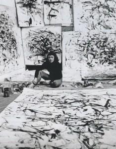 Loomis Dean, Joan Mitchell in her studio, Paris, 1957