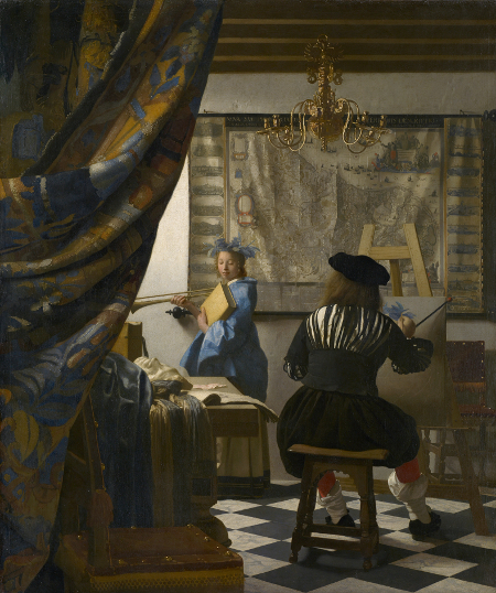 Johaness Vermeer, An Allegory of Painting, (1665-1668).