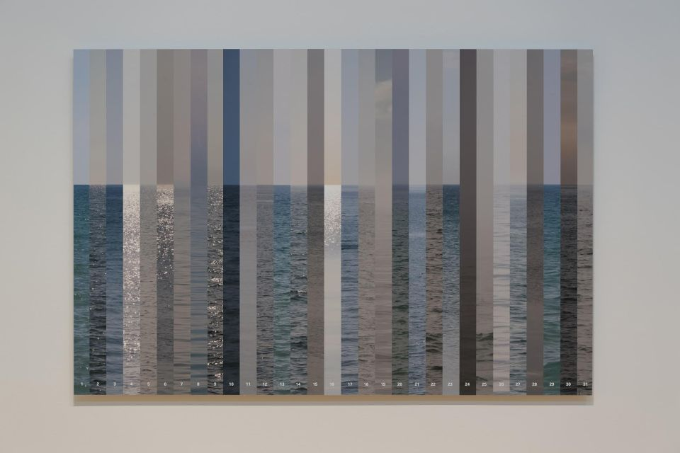 "Heather Corcoran. Color of Water, 2010. Digital print, 45 x 30"". Installation view."