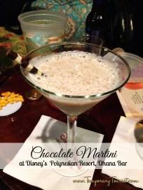 Chocolae Martini at Disney's Polynesian Resort, Ohana Bar - $9.75