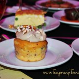 """""""Piggylicious"""" Bacon Cupcake with Maple Frosting and Pretzel Crunch featuring Nueske's Applewood Smoked Bacon #EpcotinSpring #FlowerandGarden"""