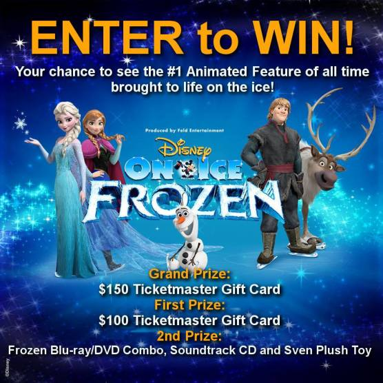 Enter to win a TicketMaster Gift card to go see Disney on Ice: Frozen