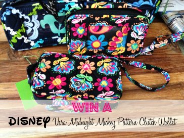 Disney Vera Bradley Midnight Mickey Clutch Wallet Giveaway