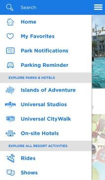 Universal Studios iOS mobile app list