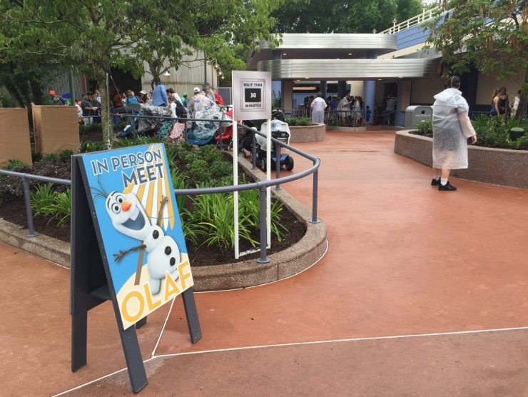 Olaf Meet and Greet Entrance