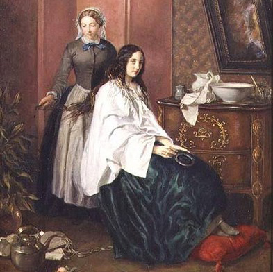 Combing My Lady's Tresses by Jean Baptiste Beranger || Combing My Lady's Tresses by Jean Baptiste Beranger