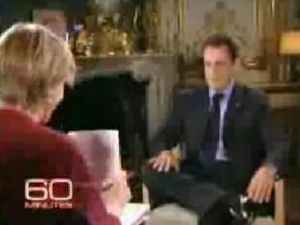 """Nicolas Sarkozy, lors de l'émission """"60 minutes"""" (DR)"""