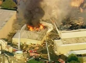 Les studios Universal en feu à Los Angeles (AP)