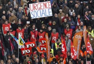 Dans le cortège de la manifestation du 29 janvier à Paris