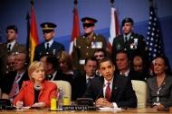 Barack Obama au sommet de l'Otan, le 4 avril 2009