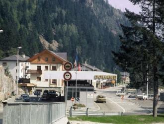 Poste de douane au Chatelard, à la frontière franco-suisse (Sipa)