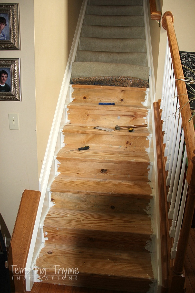 Stair Project Begins Removing The Carpet And Prepping The Wood | Hardwood Floors With Carpeted Stairs | Wall To Wall Carpet | Painting | Laminate Hall Carpet | Carpet Covered | Carpet Wrapped