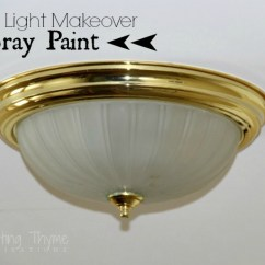 Kitchen Ceiling Light Fixture Wood Table Updating Even More Brass Fixtures Using Spray Paint ...