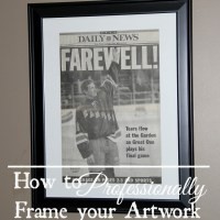 How to Professionally Frame your Artwork {on a budget}
