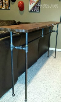 DIY Industrial Pipe Table! | tempting thyme